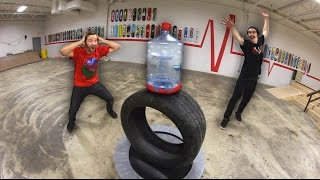 Ultimate GIANT Bottle Flipping Trick Shots!
