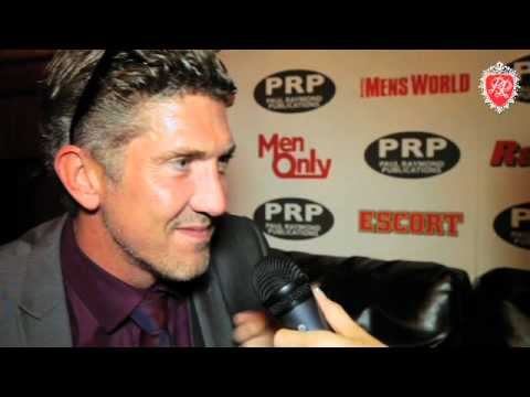 British porn stud Mark Sloan interview at the Paul Raymond Summer Party 2012