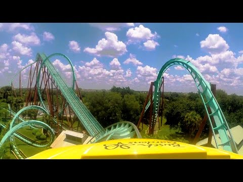 Kumba front seat on-ride HD POV @60fps Busch Gardens Tampa