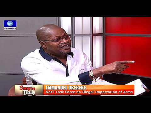 Sunrise Daily: Enormous Illegal Arms Come Into Nigeria --- Okereke  08/12/15