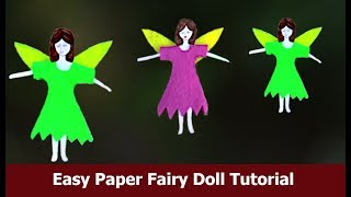 How to make paper doll fairy / craft for kids