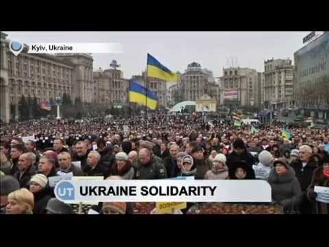 Solidarity Rallies Held Across Ukraine: President Poroshenko leads peace demonstration in Kyiv