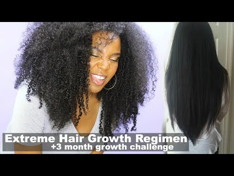 Extreme Hair Growth Regimen | How I Grew My Natural Hair | +3 Month Growth Challenge