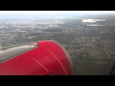 Air India Airbus A319 landing at Bhopal