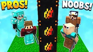 NOOBS vs PROS! | PRESTONPLAYZ LUCKY BLOCK WALLS! - Minecraft Mods