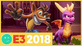 We Played Spyro and Crash Bandicoot DLC! - Kinda Funny Games Impressions E3 2018