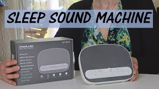 Proaller White Noise Machine Sleep Therapy Sound 8 Natural Sounds Night Light Usb Review
