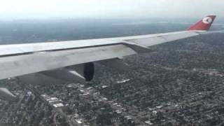 Airbus A340 Landing In JFK - Turkish airways