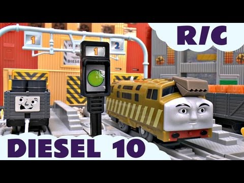 Thomas The Tank Engine and Friends Remote Control Diesel 10 for Trackmaster Kids Toy Train Set