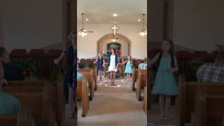 "Beechland Baptist youth preform ""Clean"" by Natalie Grant"