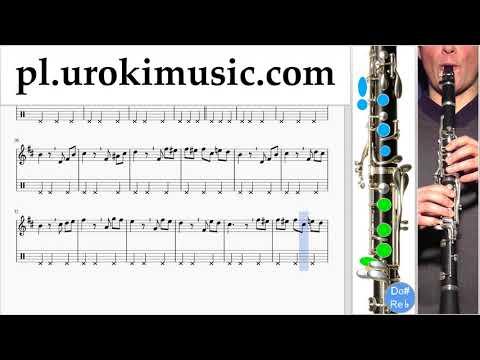 Nauka Gry Na Klarnecie Beethoven - Für Elise Nuty Poradnik Część 2 Um-b463