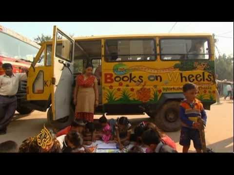 Wheeling an education into India's slums
