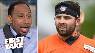Baker Mayfield, Browns are going to fall this season – Stephen A. | First Take