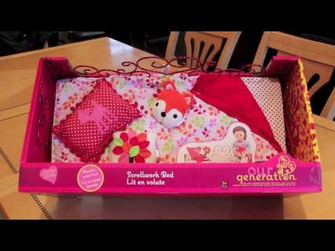 Opening/ Review Our Generation American Girl Doll Bed