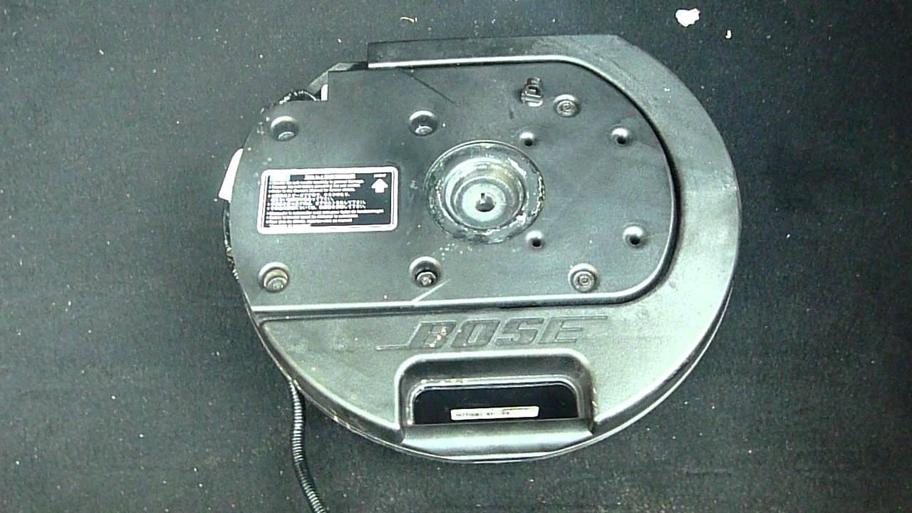 mazda 6 2 0 ts2 bose subwoofer sound audio system youtube. Black Bedroom Furniture Sets. Home Design Ideas