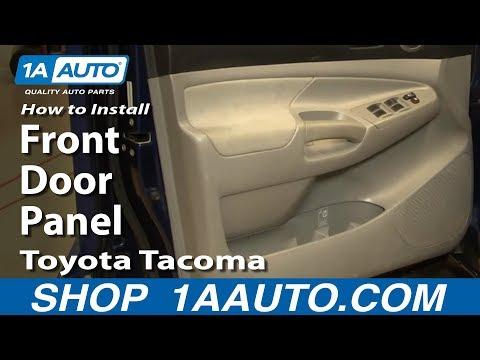 How to Install Replace Remove Front Door Panel Toyota Tacoma 05-12 1AAuto.com