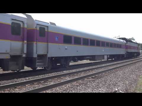 Shirley, MA: MBTA Commuter Train (1012) Inbound to Boston @ Shirley Station