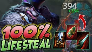Smite: 100% Lifesteal Fenrir Build - HEALING THIS MUCH IS NOT OKAY!