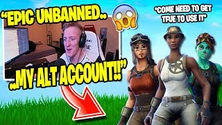 Tfue gets UNBANNED *RARE* ACCOUNT SKINS Unlocked (Recon Expert & Renegade Raider ) Fortnite