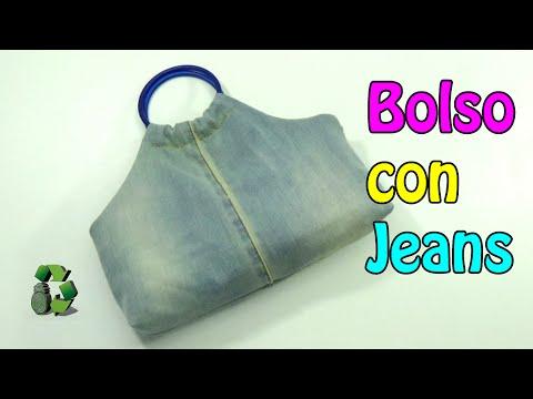 125. DIY BOLSO DE TELA (RECICLAJE DE JEANS, VAQUEROS O MEZCLILLA)