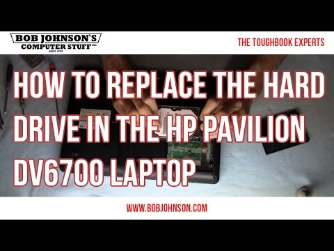 How to replace the Hard drive in the HP Pavilion DV6700 Laptop