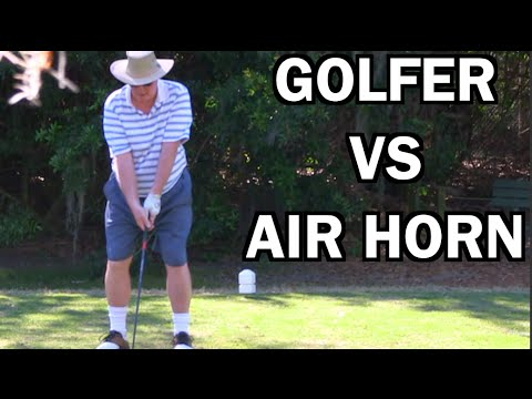 BEST GHILLIE SUIT GOLF COURSE AIR HORN PRANK EVER!!