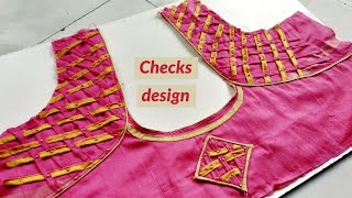 Beautiful Designer Blouse Cutting and Stitching | Latest trend Blouse Back Neck Design