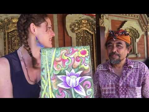 Balinese Painting Class with Famous Artist! (Vlog Ep. 22)