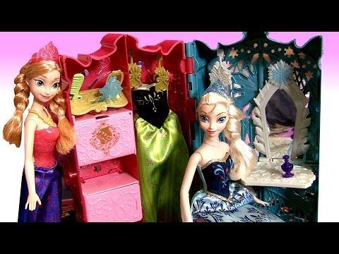 Frozen Royal Closet Princess Anna Elsa Barbie Carry Case Fashion Glam Coronation Dress-up Disney