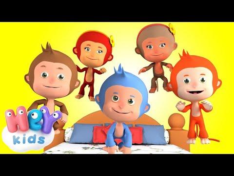 Пять Маленьких Обезьянок - Учимся считать - Детские песни