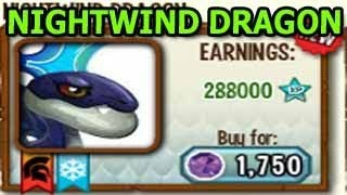 NIGHTWIND DRAGON How To Get It By Breeding Level Up Attacks Review