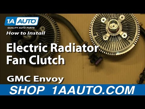 How To Install Replace Electric Radiator Fan Clutch 2002-06 GMC Envoy Chevy Trailblazer