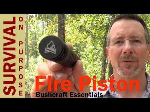 Bushcraft Essentials Fire Piston - Demonstration and Review