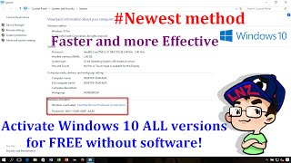 Activate Windows 10 ALL versions for FREE without software - Newest method ✔