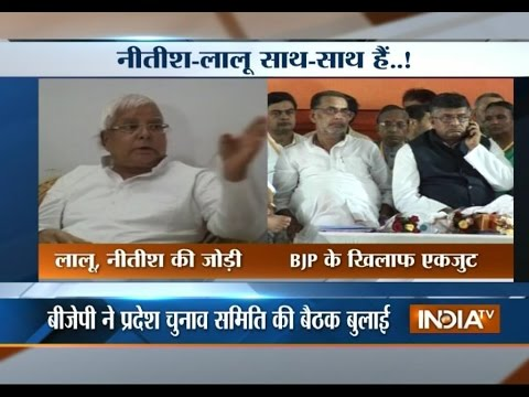 Lalu and Nitish join hands to make alliance against BJP