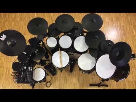 BlackBird custom electronic drum set