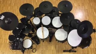 BlackBird custom electronic drum set