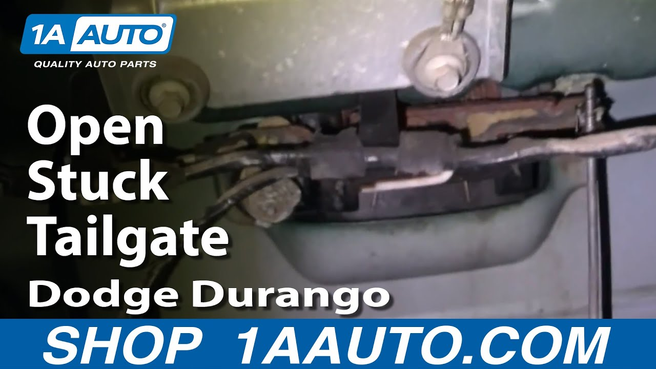 Auto Repair Open Stuck Tailgate Dodge Durango 1998 03