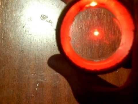como hacer mira punto rojo (casera)
