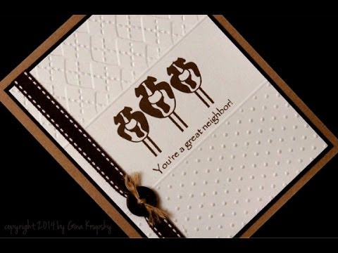 Two Embossing Folders - One Card