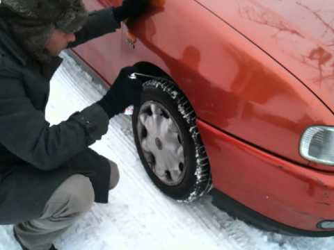 0 Liquid snow chains in action   spray on chains