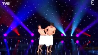 Two french comedians - two towels - Hungarian dance by Brahms - Perfect performance.