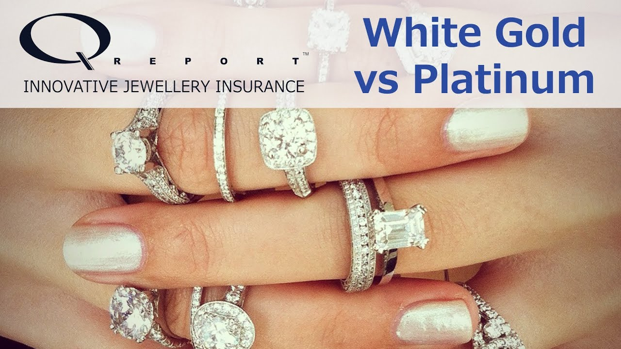 White gold vs platinum engagement rings made simple youtube for What is platinum jewelry made of