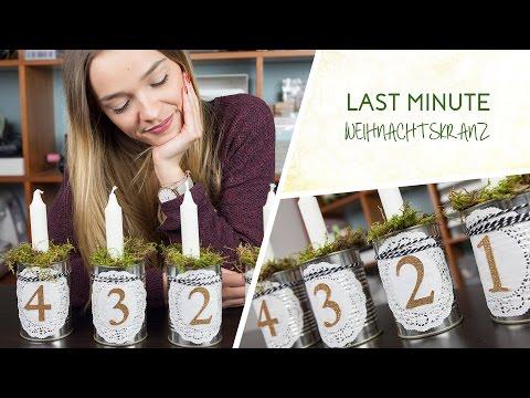 DIY: Last Minute Adventsgesteck - Adventskranz