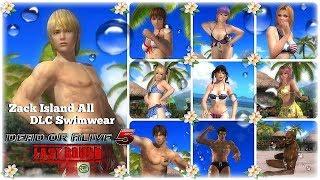 Dead or alive 5 Last Round Zack Island Swimwear All DLC Costume Part 1. HD