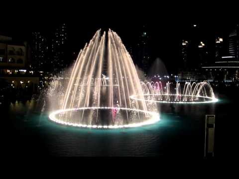 Andrea Bocelli - Time To Say Good Bye, Dubai Fountain, Feb2011 video