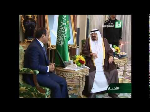 Egypt's Sisi meets Saudi King Abdullah during official visit
