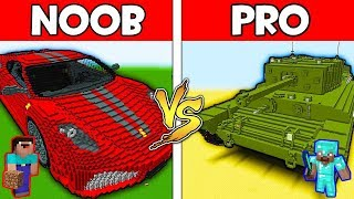 Minecraft - NOOB vs PRO : CAR vs TANK in Minecraft ! AVM SHORTS Animation