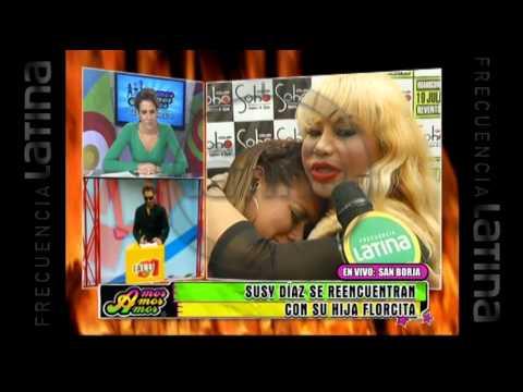 Susy Díaz se reencuentra con su hija tras dos meses peleadas