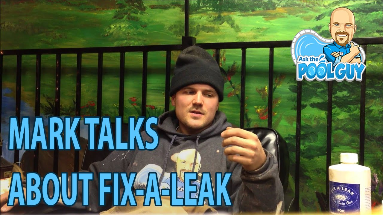how to fix leaks in pool with camera